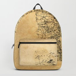 Old Minnesota Map Backpack