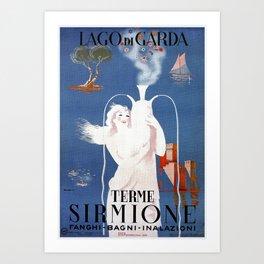Sirmione Lake Garda travel Art Print