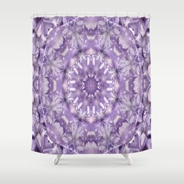 AMETHYST MANDALA Shower Curtain