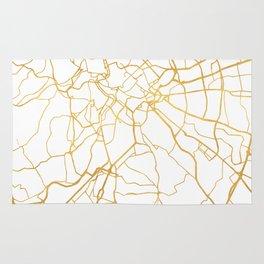ROME ITALY CITY STREET MAP ART Rug