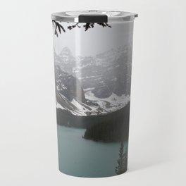 Foggy Moraine Lake Travel Mug