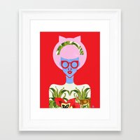 fern Framed Art Prints featuring Fern  by The Pairabirds