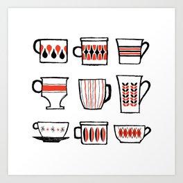 mod mugs Art Print