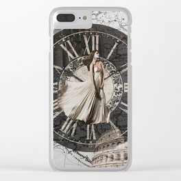 Roman-Inspired Fashion, Map, Time and Architectural Design Clear iPhone Case