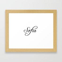 Sofia Framed Art Print