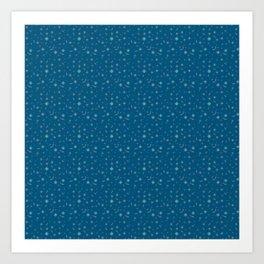 Pattern Blue 5 Rapport Art Print