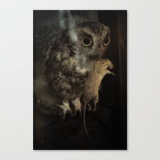 The Owl and the Mouse Canvas Print