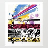 positive vibe  Art Print