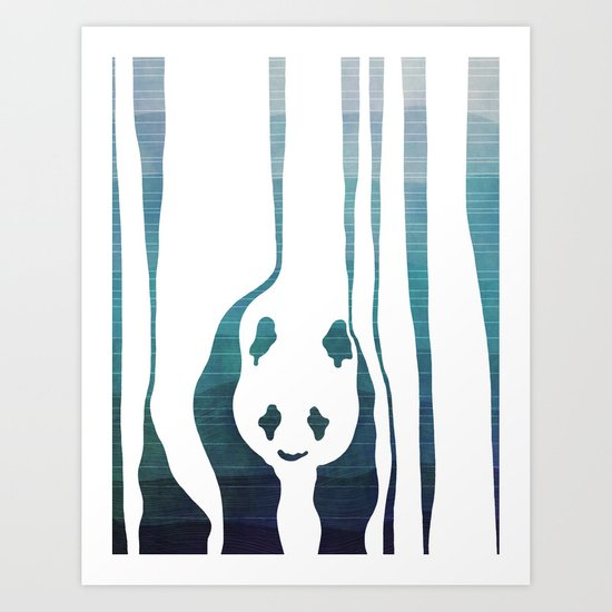 Panda's Way Art Print