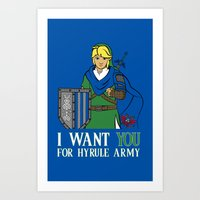 hyrule Art Prints featuring Hyrule Recruitment by PeterParkerPA