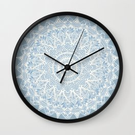 The Sunflower (gray-bue) Wall Clock