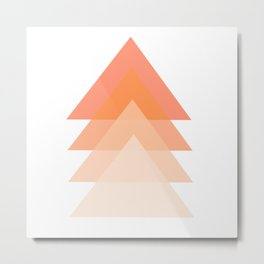 orange triangles on white background Metal Print