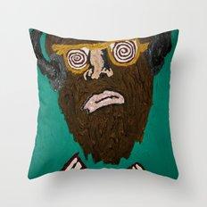music brainwash  Throw Pillow