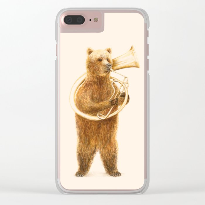 The Bear and his Helicon Clear iPhone Case