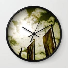 Feed me Clouds Wall Clock