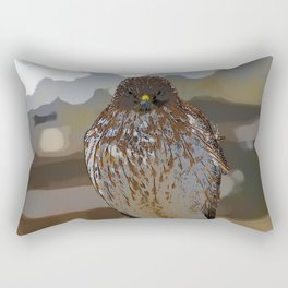 Chicken Hawk Starring Down At Me Rectangular Pillow
