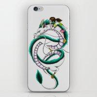 chihiro iPhone & iPod Skins featuring Haku and Chihiro by Mrs Storm