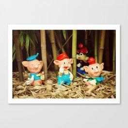 Tree Little Pigs Canvas Print