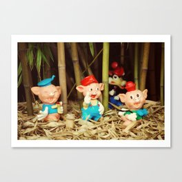 Tree Little Pigs Canvas Print
