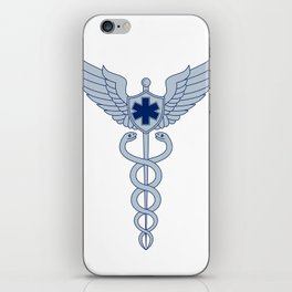 Caduceus With Pilot Wings EMT Star Icon iPhone Skin