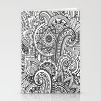 paisley Stationery Cards featuring Paisley by Emma Lin