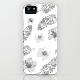 Hibiscus and Feathers Lite iPhone Case