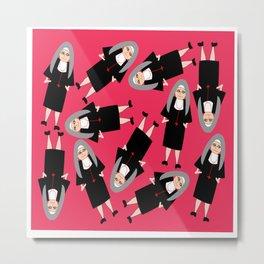 Nuns Wearing Habits Metal Print