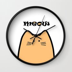 Meow part 2 Wall Clock