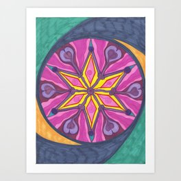Star Swish Art Print