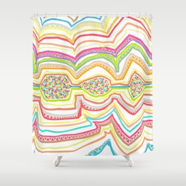 Drawing of childhood 2 Shower Curtain