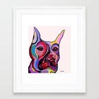 doberman Framed Art Prints featuring Doberman by EloiseArt
