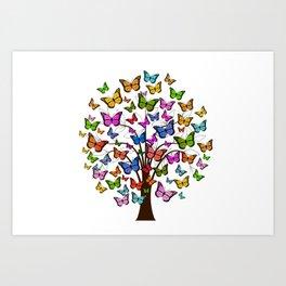 Butterfly tree Art Print