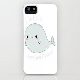 Cute Whale Pun iPhone Case