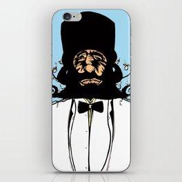 """""""Mustachat in Technicolor"""" iPhone Skin"""