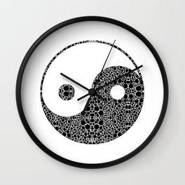 Perfect Balance 1 - Yin and Yang Stone Rock'd Art by Sharon Cummings Wall Clock