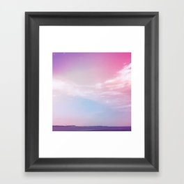 the sky + the sound Framed Art Print