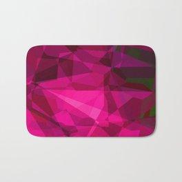 Rosas Moradas 3 Abstract Polygons 3 Bath Mat