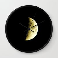 spanish Wall Clocks featuring Spanish Moon by Emma Porter