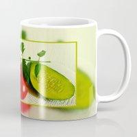 vegetables Mugs featuring Juicy Vegetables by Art-Motiva