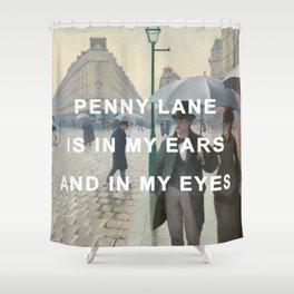 Penny Lane; Rainy Day Shower Curtain