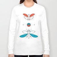 insects Long Sleeve T-shirts featuring Two Insects II by Ukko
