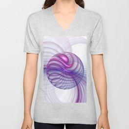 Beautiful Movements, Abstract Fractal Art Unisex V-Neck
