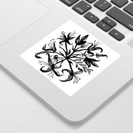 Black bouquet Sticker
