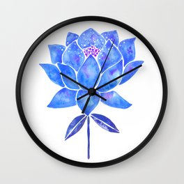 Sacred Lotus – Blue Blossom Wall Clock
