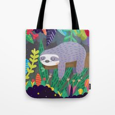 Sloth in nature Tote Bag