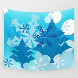 Winter Tree Holiday Wall Tapestry