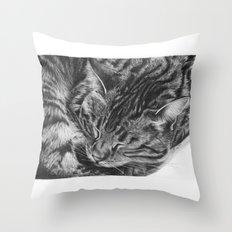 Ziggy the Tabby Cat Throw Pillow