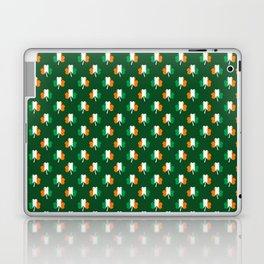 Irish Flag Green White Orange on Green St. Patrick's Day Ireland Laptop & iPad Skin