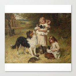 Frederick Morgan R.O.I. (British, 1847-1927) and Allen Culpepper Sealy (British, 1850-1927) RIVAL FA Canvas Print