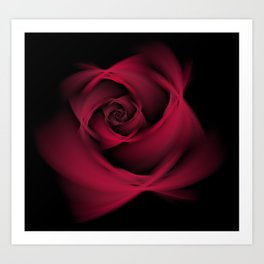 Abstract Rose Burgundy Passion Art Print